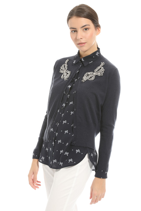 Embroidered cardigan Intrend