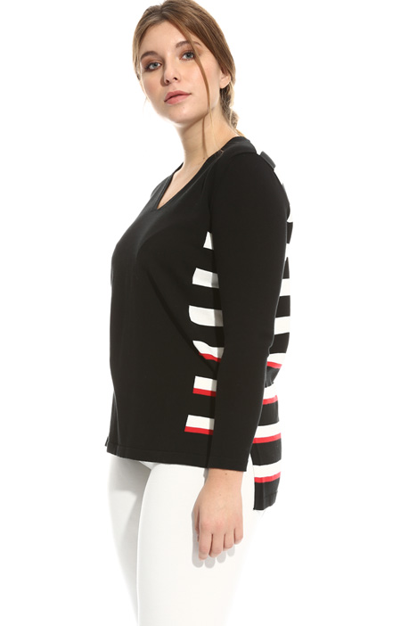 Crepe cotton sweater Intrend