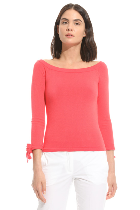 Bardot neckline sweater Intrend
