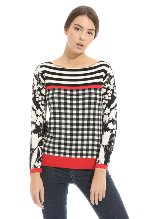 Printed jersey sweater Diffusione Tessile