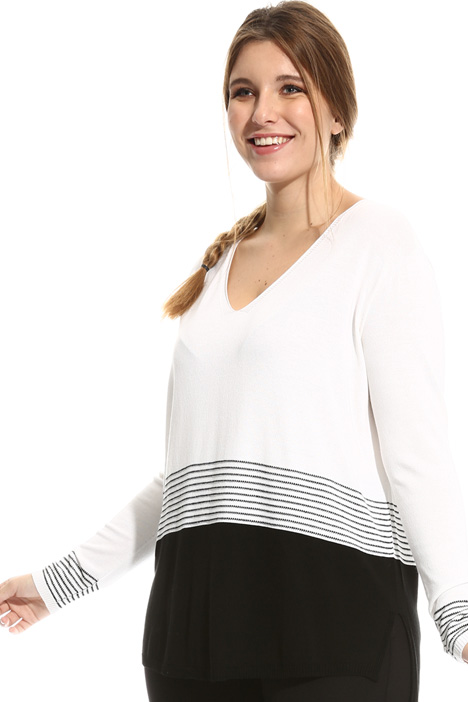 Viscose and lurex sweater  Diffusione Tessile