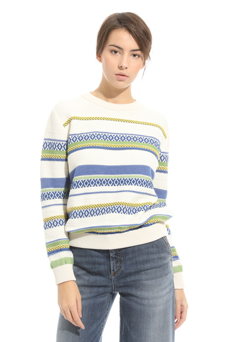 Geometric intarsia sweater Intrend