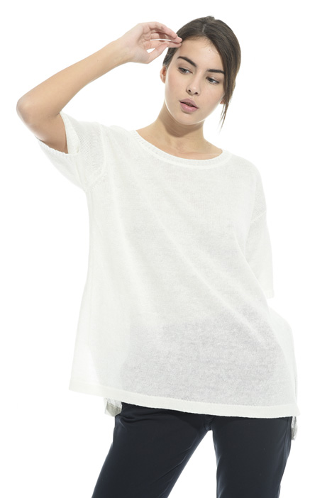 Oversized sweater with slits Diffusione Tessile
