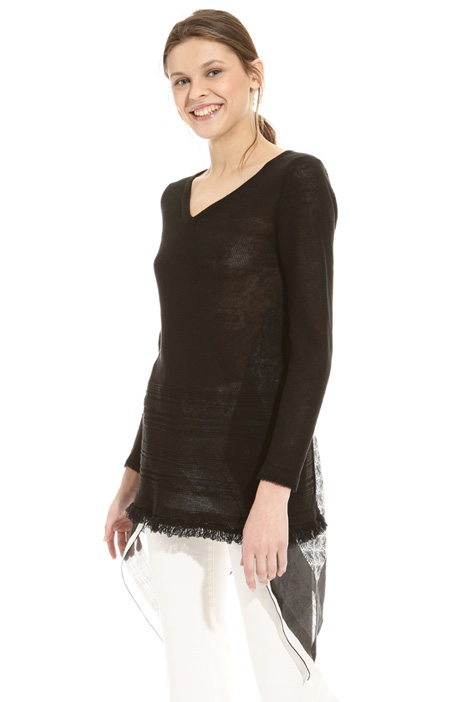Printed panel sweater Diffusione Tessile