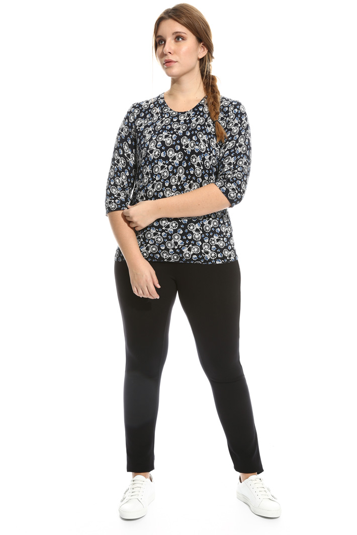 Printed cotton sweater Intrend