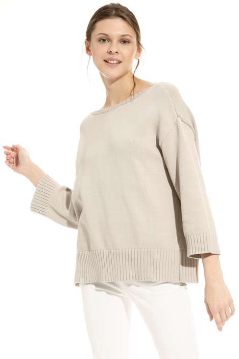 Side slit sweater Diffusione Tessile