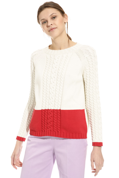 Braid knit sweater Diffusione Tessile