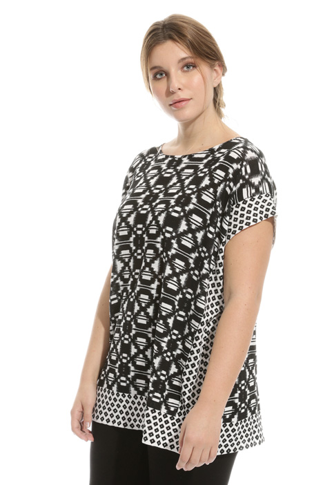 Printed pure linen tunic Intrend