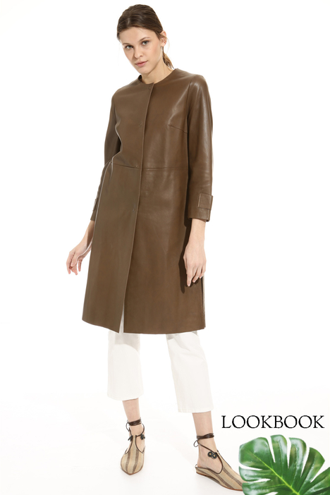 Leather topcoat Intrend
