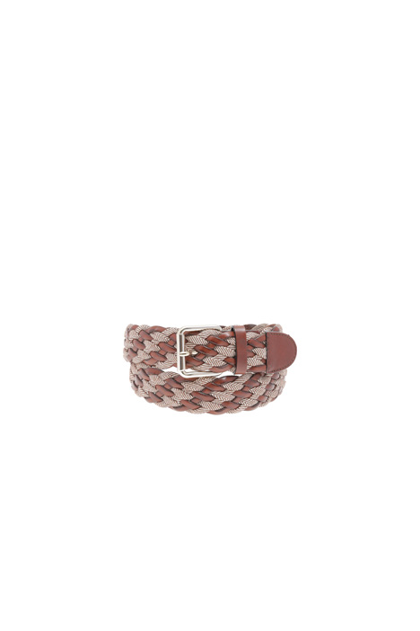 Leather braided belt Intrend