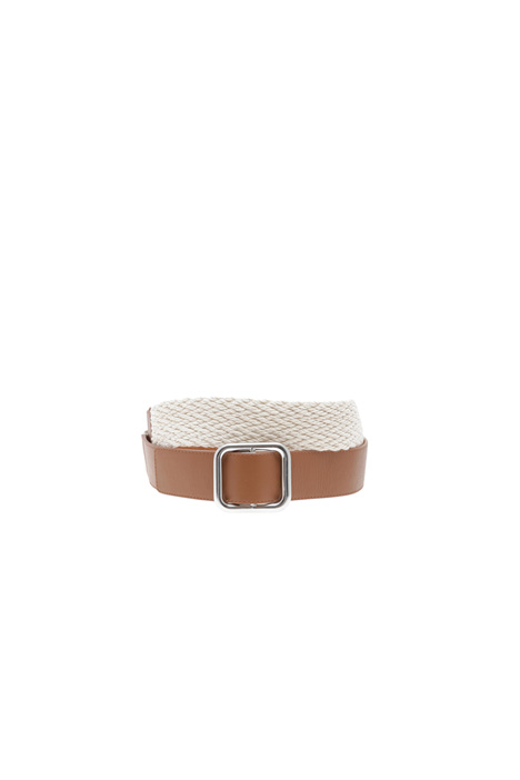 Rope and leather belt Diffusione Tessile