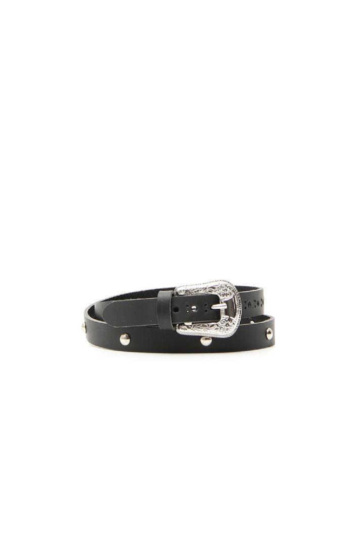 Matt leather belt Intrend