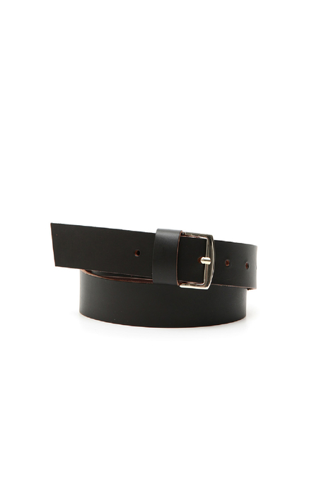 Matt-effect leather belt Intrend