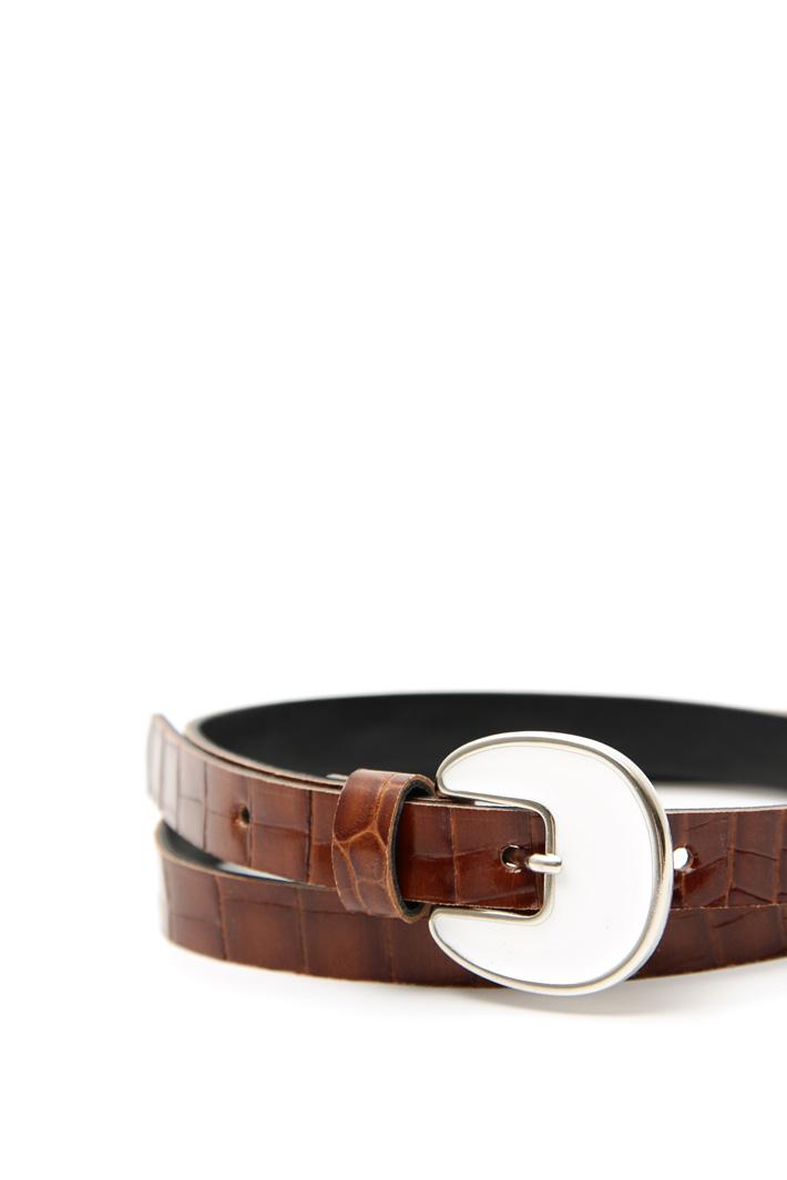 Thin leather belt Intrend