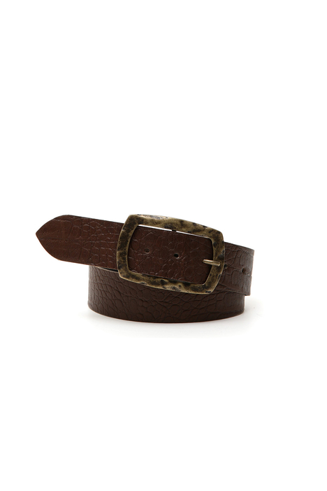 Crocodile leather belt Intrend