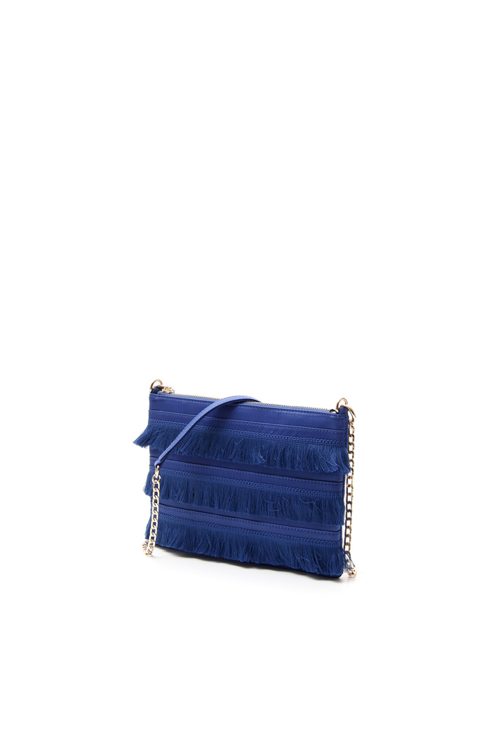 Fringed satin bag Diffusione Tessile