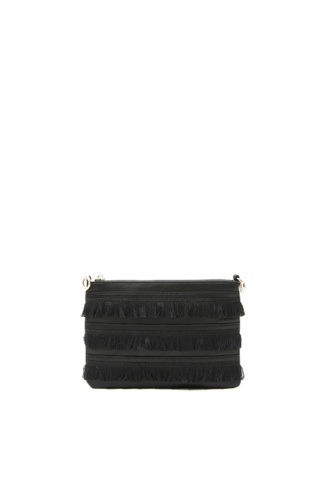 Fringed satin bag Intrend