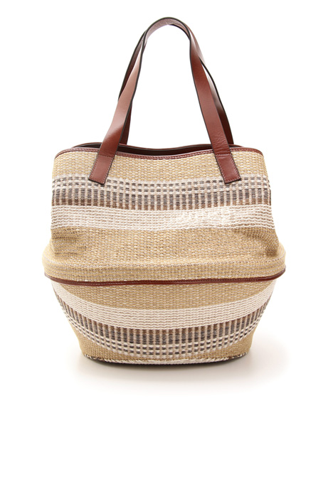 Basket bag in fabric Diffusione Tessile