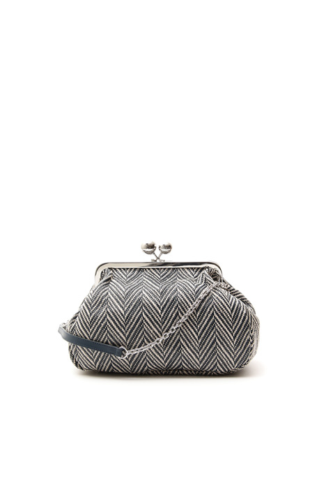 Herringbone fabric handbag  Intrend