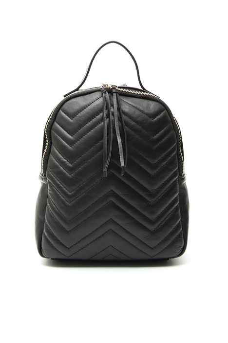 Quilted leather backpack Diffusione Tessile