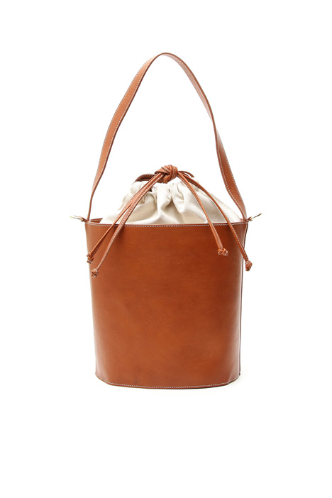 Real leather bucket bag Diffusione Tessile