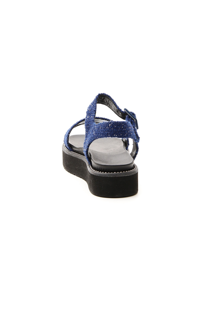 Fabric platform sandal Intrend