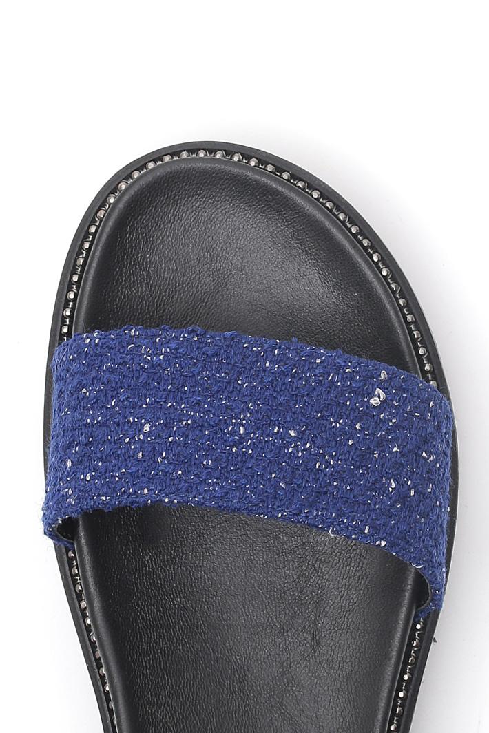 Fabric platform sandal Intrend