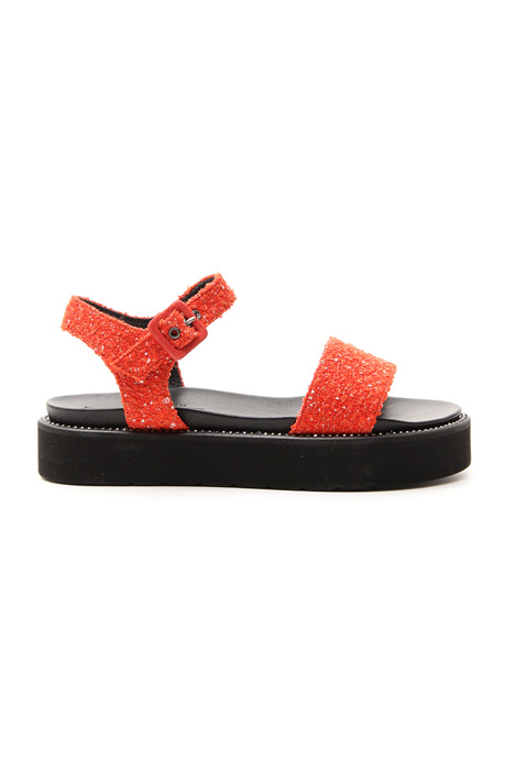 Sandalo platform in tessuto Diffusione Tessile