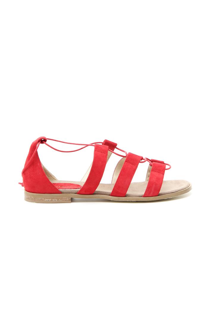 Sandalo scamosciato con lacci Intrend