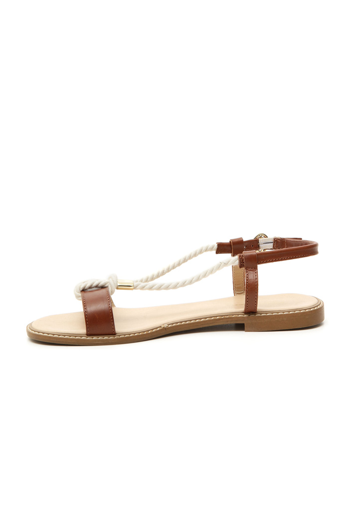 Leather and rope sandals Diffusione Tessile
