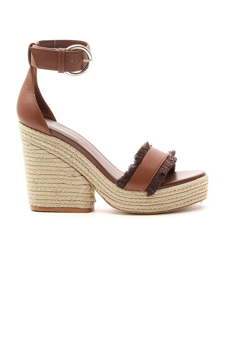 Sandalo con tacco zeppa Diffusione Tessile