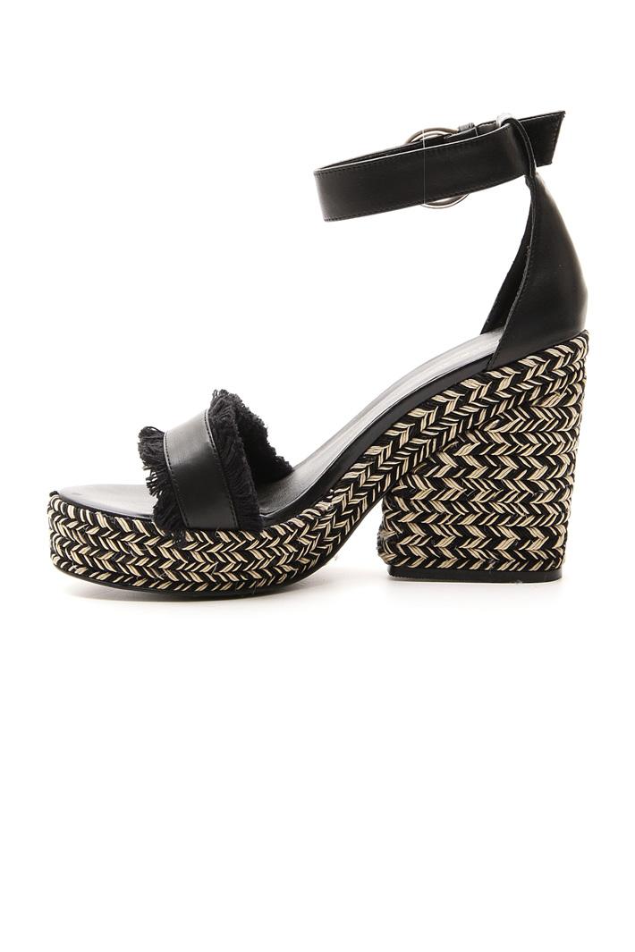 Sandalo con tacco zeppa Intrend