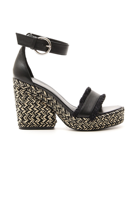 Sandal with wedge heel Diffusione Tessile