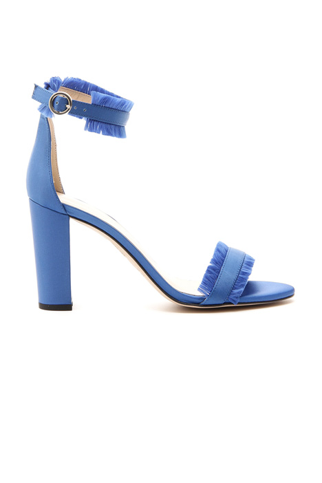 Satin sandal with fringes  Diffusione Tessile