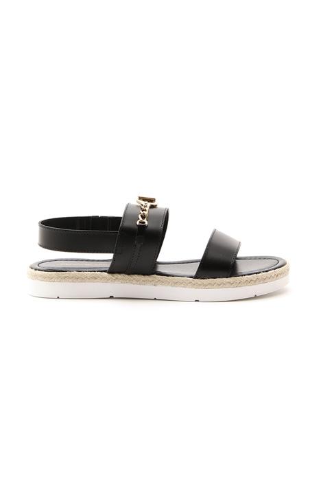 Sandalo in pelle con fasce Diffusione Tessile