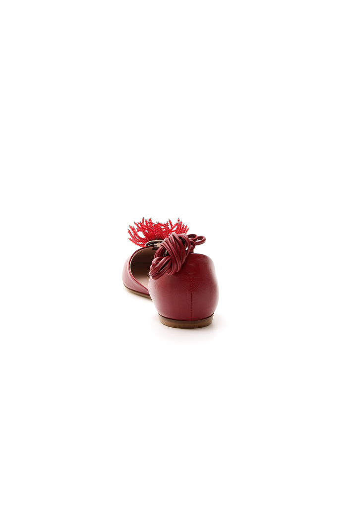 Smooth leather ballerina Intrend