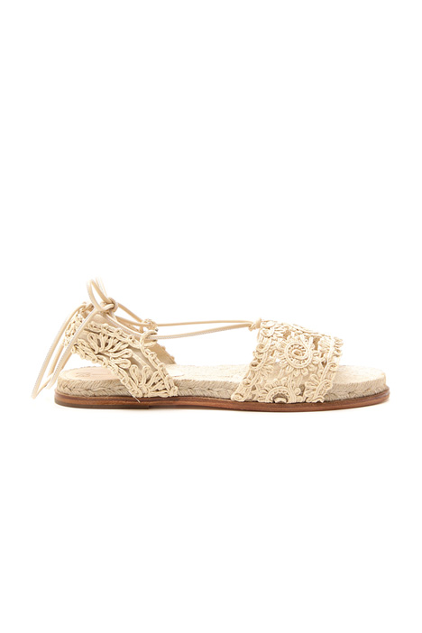Sandalo flat effetto crochet Diffusione Tessile