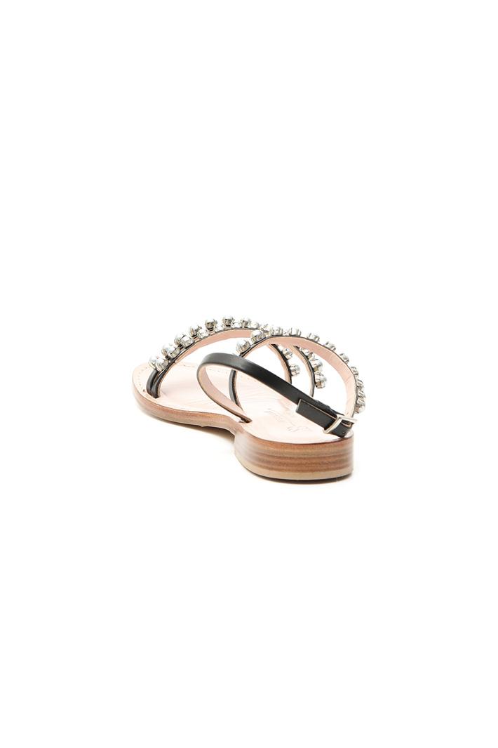 Sandalo con perle incastonate Intrend