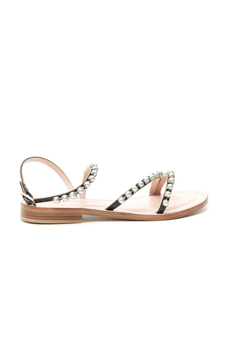 Inset beads sandals Diffusione Tessile