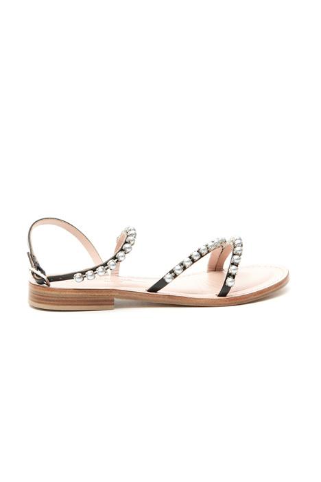 Sandalo con perle incastonate Diffusione Tessile