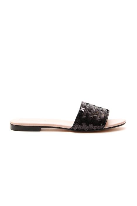 Sandalo flat con paillettes Diffusione Tessile