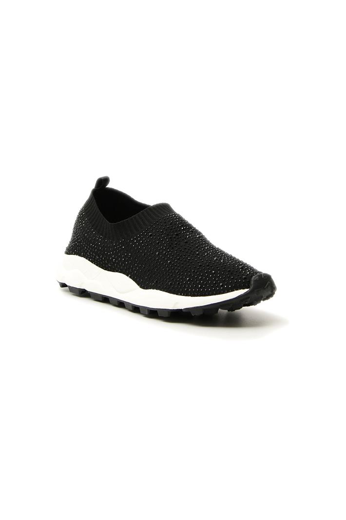 Sneaker in tessuto con strass Intrend