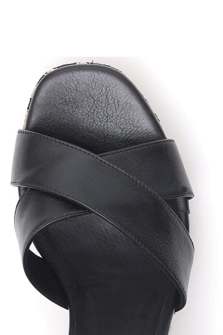 Sandalo con tacco rafia Intrend