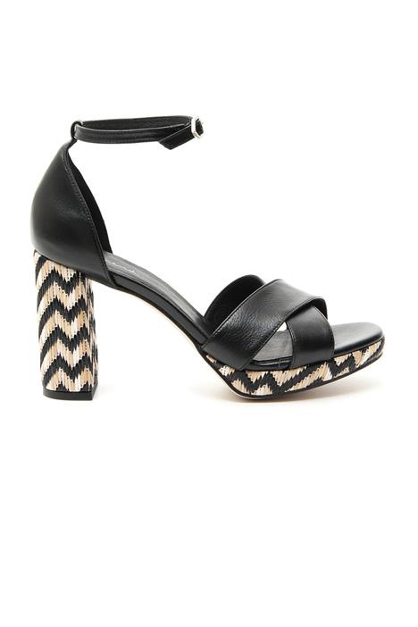 Raffia heel sandal Diffusione Tessile
