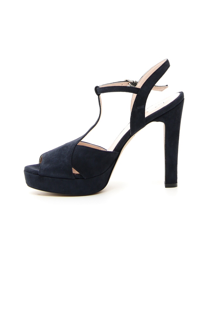 Suede high-heeled sandals Intrend