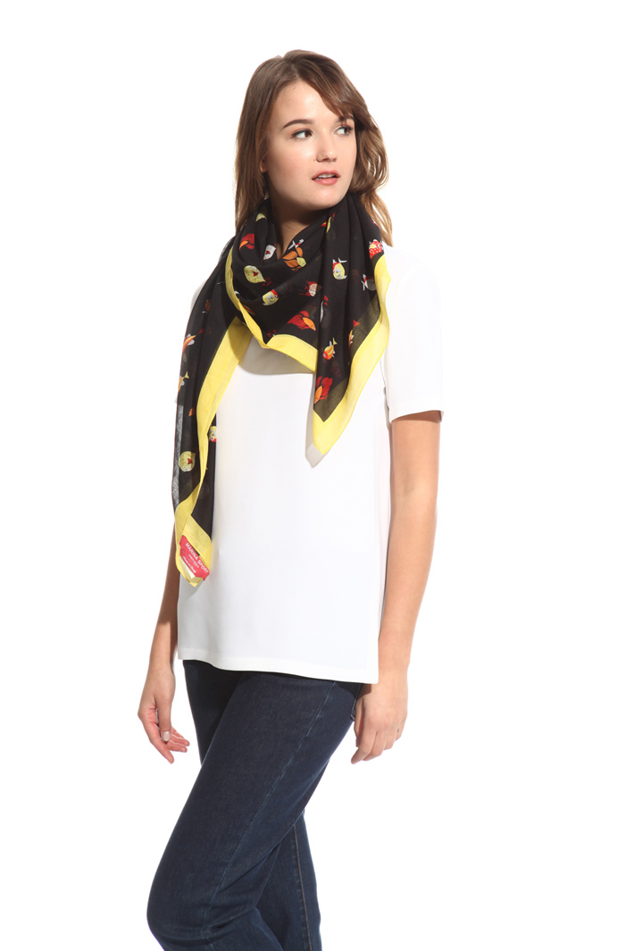 Printed cotton foulard Intrend