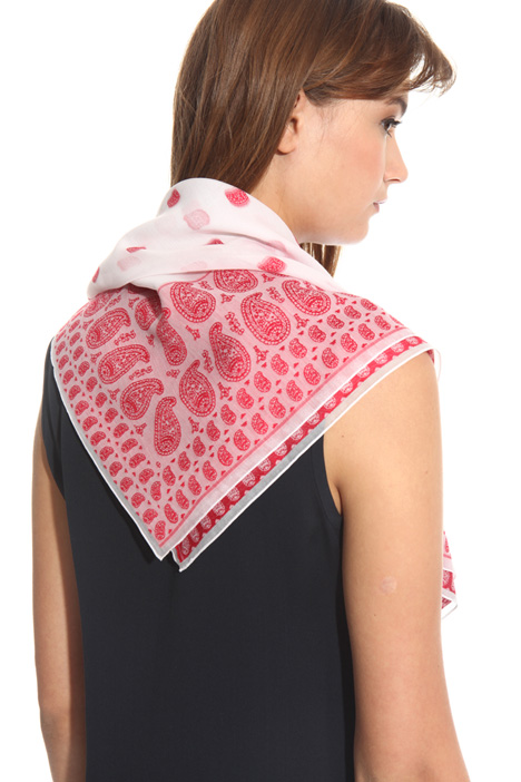 Foulard in cotone fil coupé Intrend
