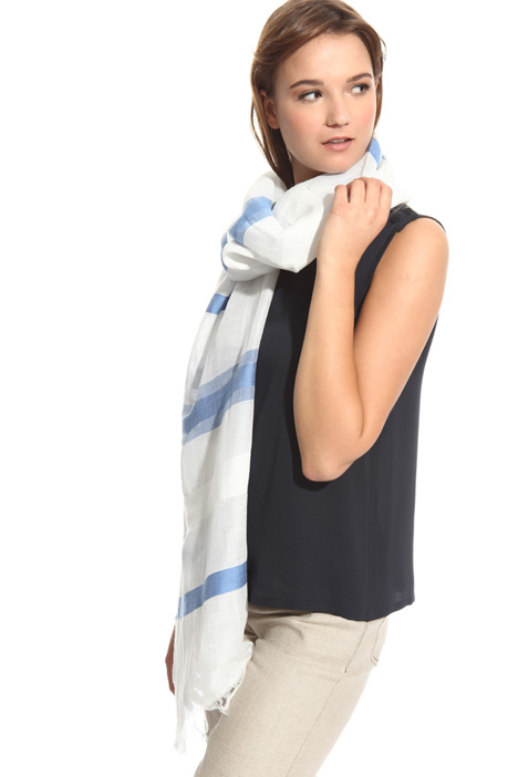 Jacquard linen scarf Intrend