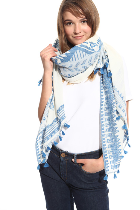 Cotton and linen scarf Diffusione Tessile