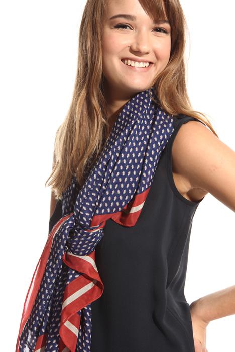 Silk blend cotton scarf  Diffusione Tessile